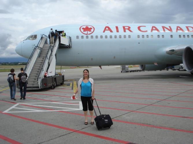 Boeing 767-300 air canada tarmac Genève 1