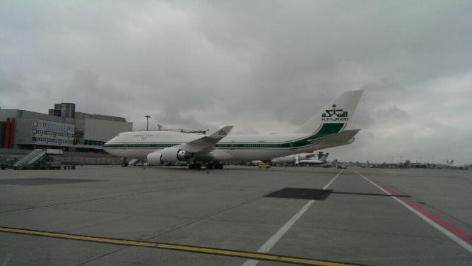 Boeing 747 sur emplacement gros porteur